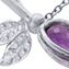 Part of the new collection of jewellery by Karen Phillips, Wild Rose White Gold Amethyst necklace