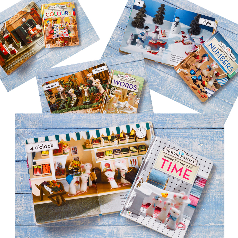 A wonderful series of four books for children with full colour photography on each page, with fantastic attention to detail in the miniature scenes