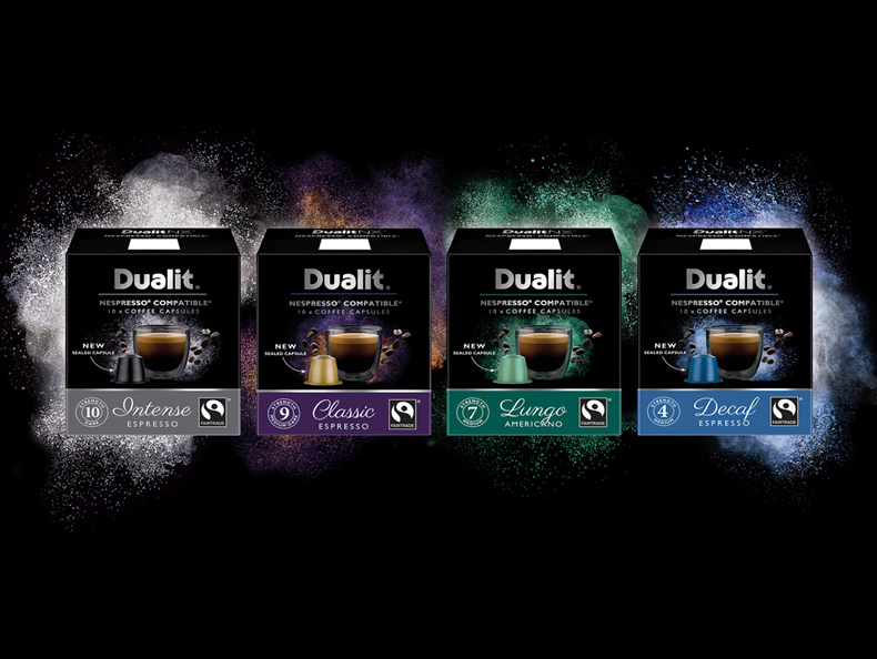 New packaging exploding onto the scene with 4 new coffees in the NX range by Dualit