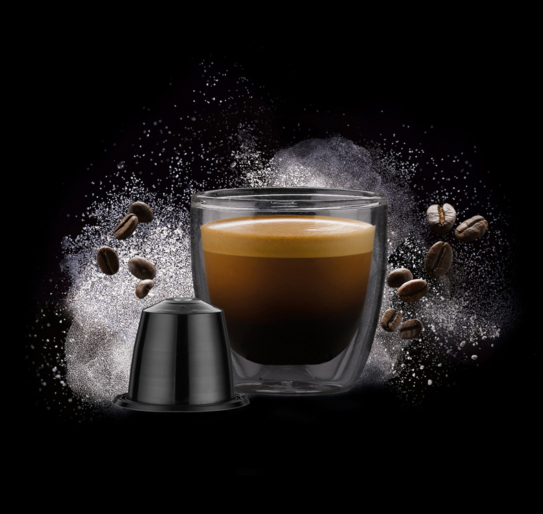NX coffee capsule shoeing coffee beans and espresso for Dualit