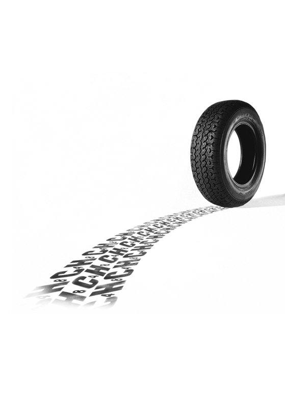 To photograph the chemical formula for ICI in making car tyres